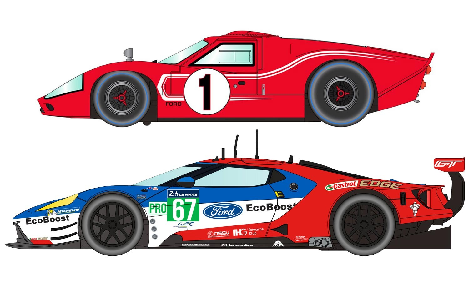 Legends Le Mans 1967 – 50 Years of Ford Twin Pack - Limited Ed